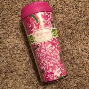 "NWT Lilly Pulitzer thermal mug in ""May Flowers"""